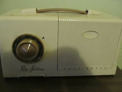Vintage Lady Sunbeam Combo Hair Dryer Nail Dryer Portable Model DHD
