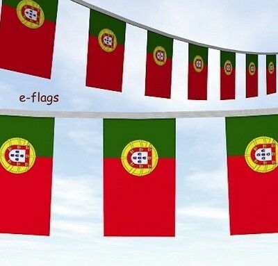 10 METRES PORTUGAL FLAGS BUNTING Bandeira de Portugal