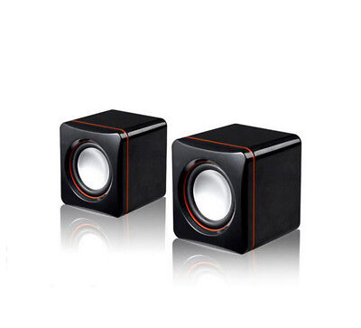Mini Pair Portable USB Speakers for Computer Laptop Desktop PC MP3 iPod iPhone