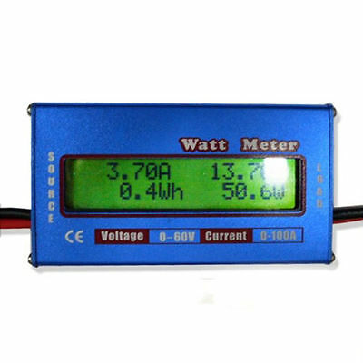 verygood RC Heli Watt Meter DC 60V Balance Voltage LCD Battery Power Analyzer EF