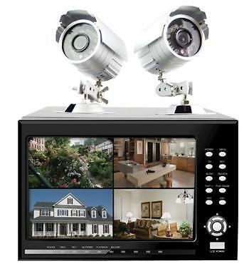 "2Tb Hawkeye Cctv Security Kit 7"" Monitor 8 Channel 4 X Had Ccd Camera H.264 Cam"