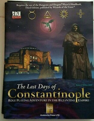 D20 system adventure: The last days of Constantinopole