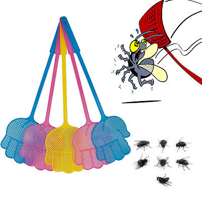 1,3 Fly Swat Killer Swatter Bug Bee Mosquito Zapper Insect Long Handle Catcher