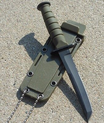 "6"" Hunting KNIFE Survival Mini Combat Tactical Blade Bowie Neck Keychain"