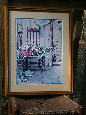 Home Interiors Framed Signed Norman Rockwell  Picture