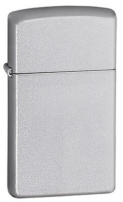 Zippo Slim Windproof Satin Chrome Lighter, 1605,  New In Box