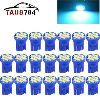 20X T10 194 192 168 Interior/License Plate & Dash SMD LED Light Bulbs  ICE Blue