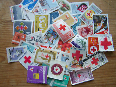 35 DIFFERENT RED CROSS STAMPS.EXCELLENT.