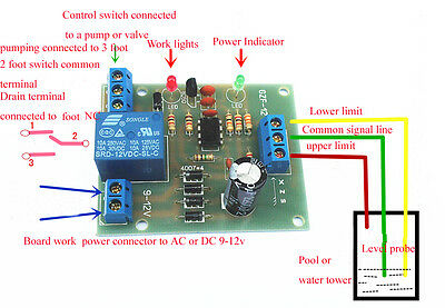 AC/DC 9-12V Liquid Level Controller Sensor Module Water Level Detection Sensor