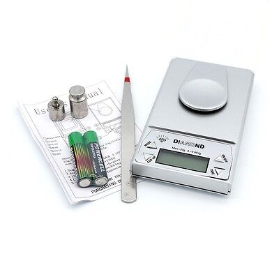 0.001-20g High Precision Milligram Digital Jewelry Diamond Kitchen Coin Scale UK