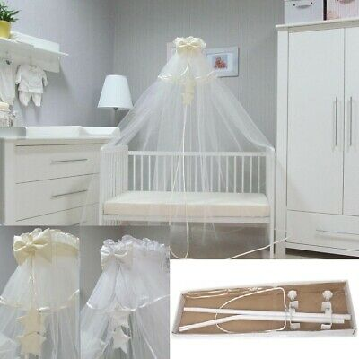 CANOPY DRAPE 560x170cm ; 220x67in WITH HOLDER TO FIT BABY COTS & COT BEDS