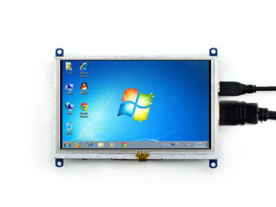 5inch HDMI LCD (B) 800×480 Resistive Touch Screen LCD for Raspberry Pi BB Black
