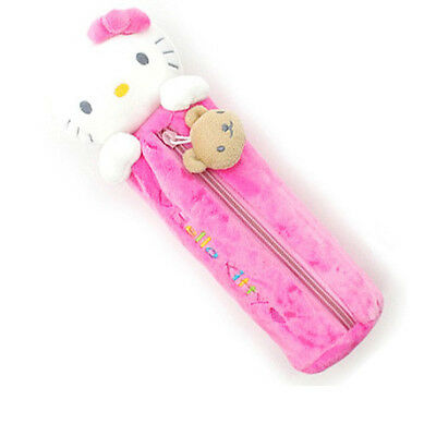 Sanrio Hello Kitty Pencil Case Bag Zippered Cosmetic Doll Pouch - PINK