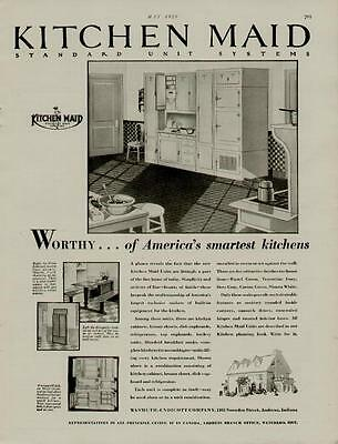 1929 Kitchen Maid Cabinets Ad / Standard Unit System....n135
