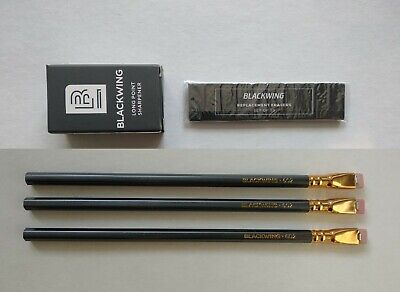 PALOMINO BLACKWING 3Pencils(602 *3ea) & Pencil Sharpener & Refill Eraser Set