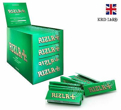RIZLA GREEN REGULAR Cigarette Rolling Papers Original Tobacco Paper FULL BOX