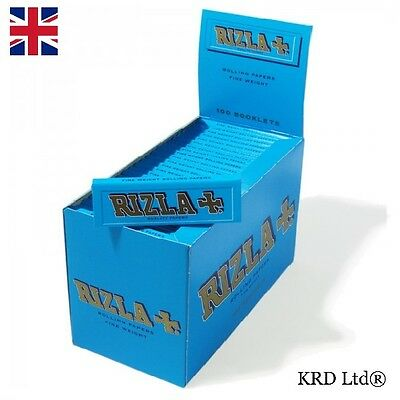 RIZLA BLUE REGULAR Cigarette Rolling Papers Original Tobacco Paper FULL BOX