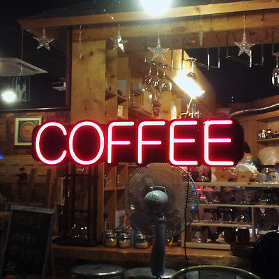 LED Neon Art Light Coffee Cafe Sign Shop Display Window Gift Interior