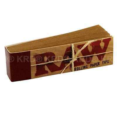 RAW Cigarette Rolling Paper Roach Tips Tobacco Smoking Roach Filter Tip Box UK