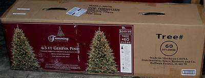 BRAND NEW IN BOX Trimming Traditions 6.5 Foot Geneva Pine Pre-Lit Christmas Tree