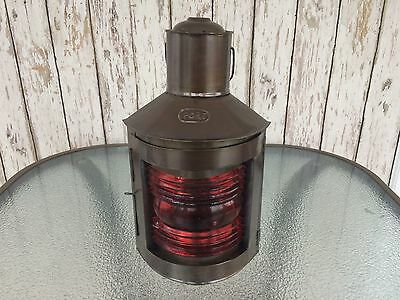 "12"" Metal Port Lantern ~ Ship Oil Lamp ~ Nautical Maritime ~ Boat Light"