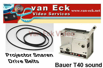 Bauer T40 sound - 3 belt set (BT-0392-MTC) New - Motor, counter, top belt