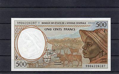 Central African Republic Africa F 500 Francs 1999 UNC p-301Ff