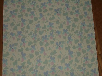 vintage antique 1950s 1940s art deco wallpaper union made 2 partial rolls floral