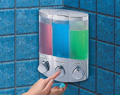 Euro Croydex Aviva Soap Shower Gel Shampoo Bathroom Pump Dispenser Wall Mounted