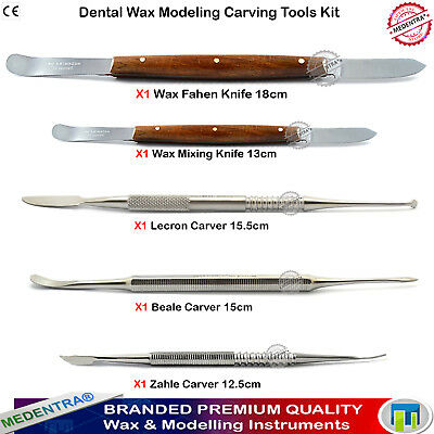 MEDENTRA Laboratory Wax Carvers and Knives Beale Zahle Lecron Deal of 5 PCS
