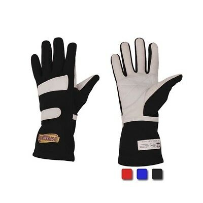 Speedway Nomex Racing Gloves SFI 1, Leather Palm, Black, Medium