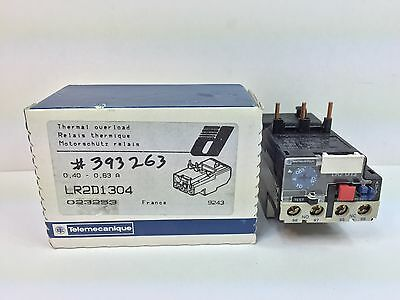 Sealed New! Telemecanique Thermal Overload Relay Lr2D1304 0,40-0,63 Amp