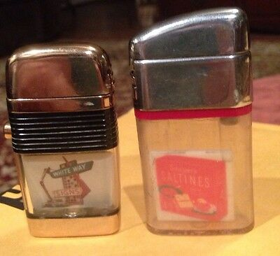 Lot of two Vu Lighters, Scripto and Rite point,White Way and Saltines,