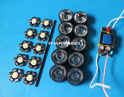 10X 3W Plant Grow Full Spectrum 380-840nm High Power LED + lens + 6-10x3w driver