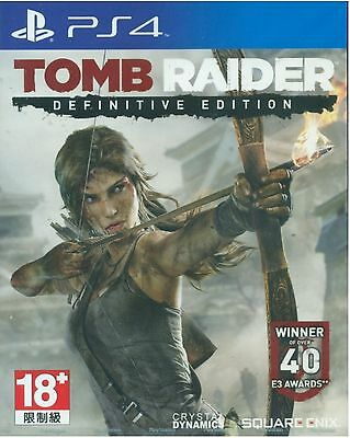 Tomb Raider Definitive Edition HK English + Chinese subtitle Version PS4 NEW