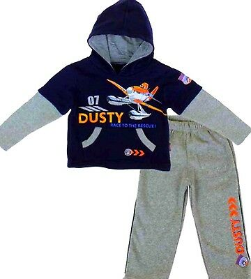 Kids Boys DUSTY 7 PLANES Character Hooded Tracksuit Outfit & Sets,2 3 4 5 6 8YRS