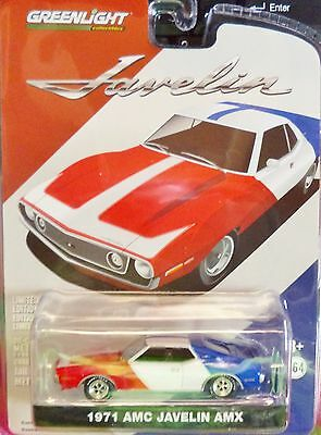 Green Light Hobby Exclusive 1971 AMC Javelin AMX Red White Blue