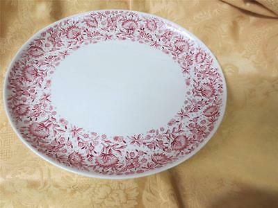 New Syracuse China Mayflower Carefree   12 1/2 x 11  inch oval platter Red