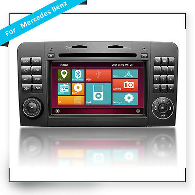 OEM GPS IPOD Multimedia Wince 6.0 Car DVD Player for Mercedes Benz W164 GL X164