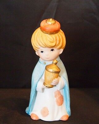 #5602  Homco Porcelain Children Nativity Christmas Wisemen Figurine