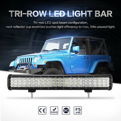 "20"" 210W CREE LED Work Light Bar Flood Spot Combo Offroad Driving 4x4WD SUV"
