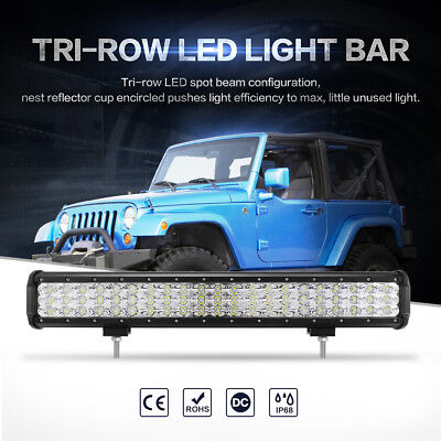 20inch 294W CREE LED Work Light Bar Flood Spot Combo Offroad Driving 4WD SUV 23""
