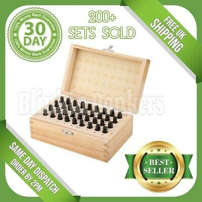 Large 5Mm 36Pc Metal Letter Number Stamp Security Postcode Punch Set Tool Kit