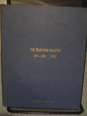 1962 The Telephone Bulletin Hard Cover Book, New Haven, Connecticut