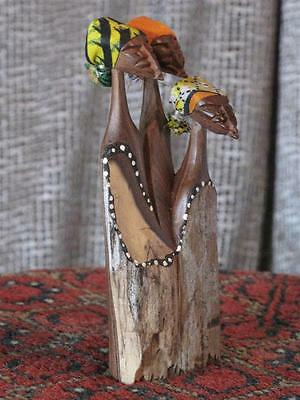 Old African Miniature Three Ladies Wood Carving…  Collector's item...