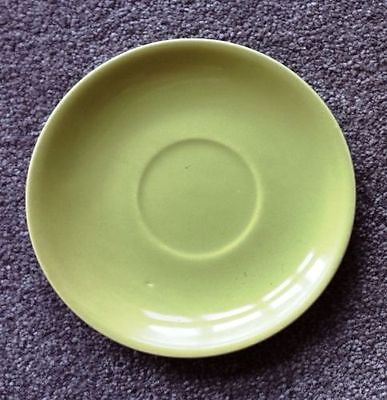 VINTAGE~1930's BAUER POTTERY~LOS ANGELES, CALIFORNIA~SAUCER PLATE~CHARTREUSE