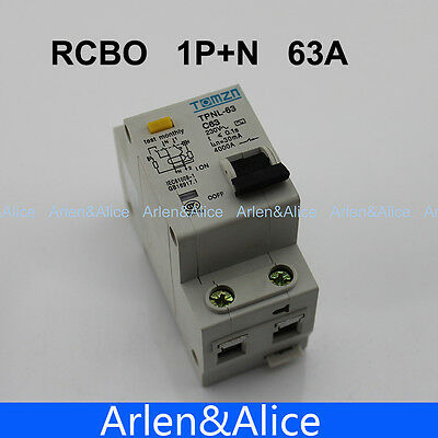 DPNL 1P+N 63A 230V~ 50HZ/60HZ MCB with over current and Leakage protection RCBO