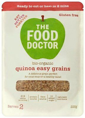 The Food Doctor Easy Grains Quinoa 225g (pack of 4)