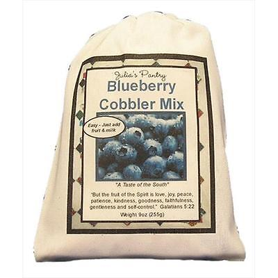 Julias Pantry JP102 Blueberry Cobbler Mix Cloth Bag 9oz, Pack of 4