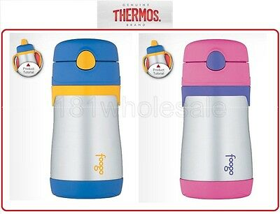 Thermos Foogo Leak-Proof Vacuum Insulated Sippy Straw Cup Bottle 355ml BPA FREE